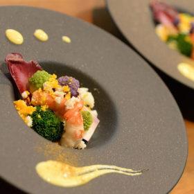 海老と5種カリフラワーのサラダ